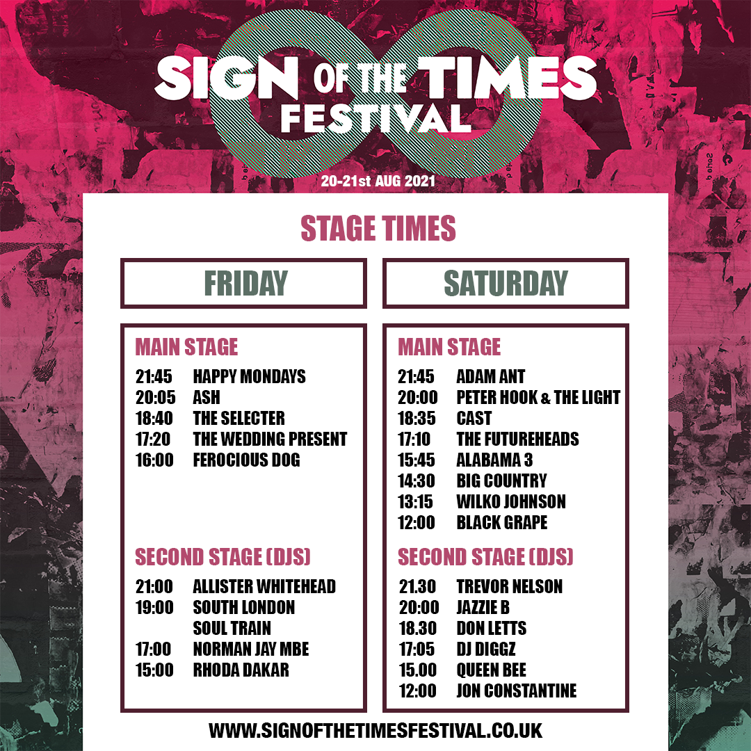 SOTT 2021 stage times